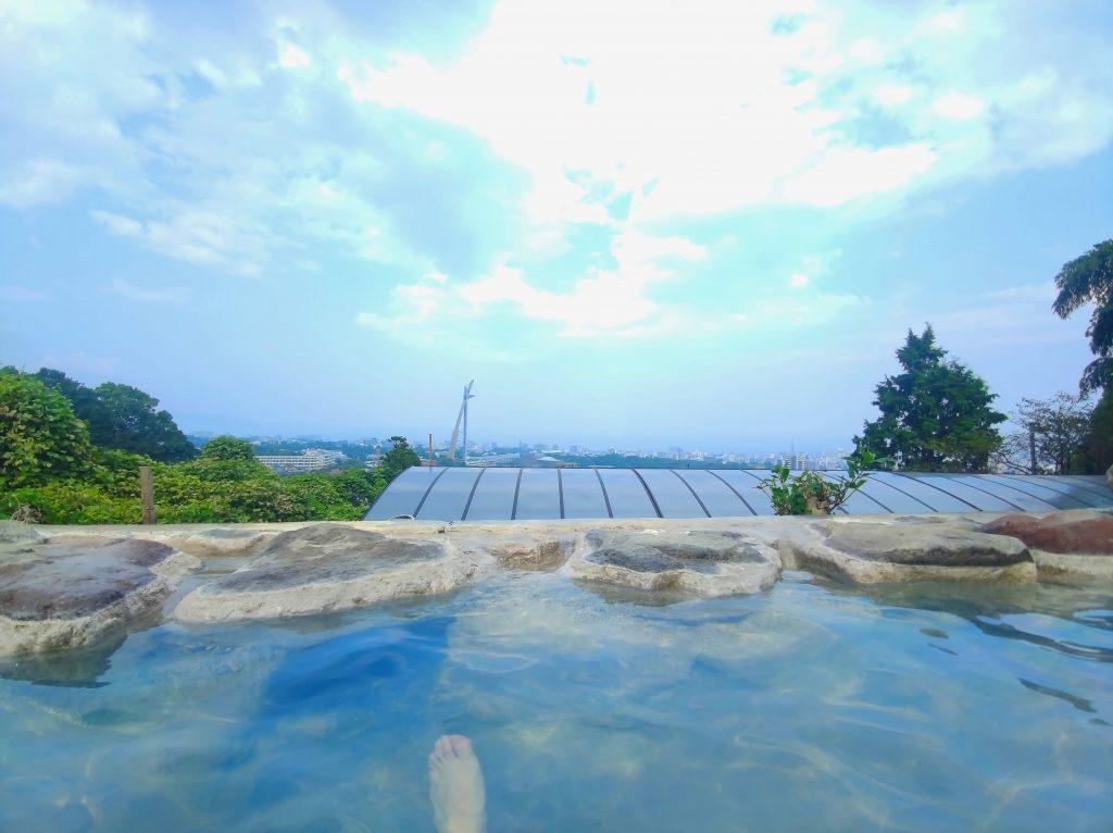 【別府 いちのいで会館】天然成分で青色になる!?美しい青色湯温泉♨(別府八湯温泉道対象)